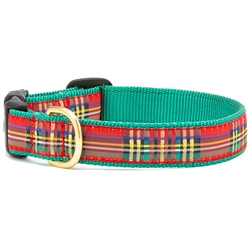 Christmas Sparkle Plaid Dog Collar