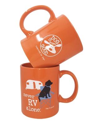 Never RV Alone 4 pk mug set