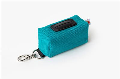 Turquoise No-Dangle Poop Bag Dispenser