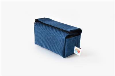 Navy No-Dangle Poop Bag Dispenser