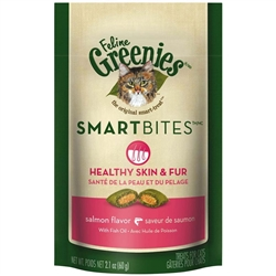 Greenies Smartbites Skin & Fur Salmon for Cats 2.1oz