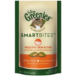 Greenies Smartbites Skin & Fur Chicken for Cats 2.1oz