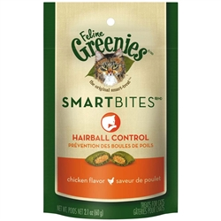 Greenies Smartbites Hairball Control Chicken for Cats