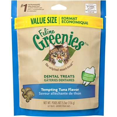 Greenies Feline Dental Treat Tempting Tuna for Cats