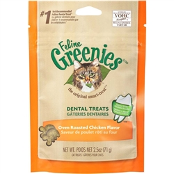 Greenies Feline Dental Treat Oven Roasted Chicken for Cats
