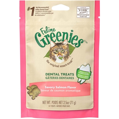 Greenies Feline Dental Treat Savory Salmon for Cats