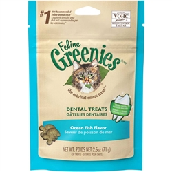 Greenies Feline Dental Treat Ocean Fish for Cats