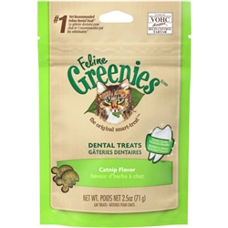 Greenies Feline Dental Treat Catnip Flavor for Cats