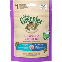 Greenies Feline Dental Treat Ocean Fish & Tuna Flavor for Cats - 2.5oz