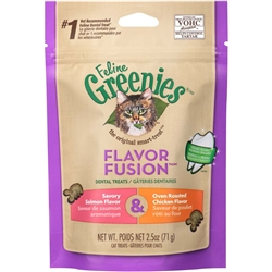 Greenies Feline Dental Treat Chicken & Salmon Flavor for Cats - 2.5oz