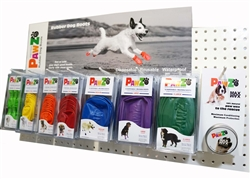 PawZ Dog Boots In-line Display Pack - with Header Card