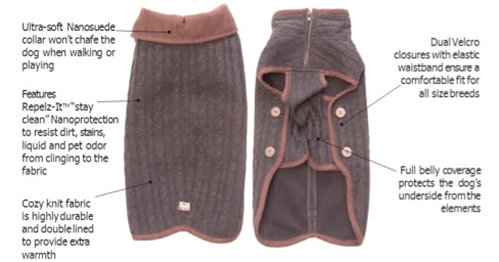 Nano Knit Sweater, Grey & Brown