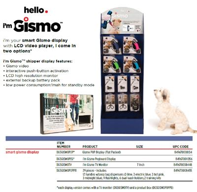 "i'm Gismo Handles Display with 7"" TV Monitor and 29 other access."