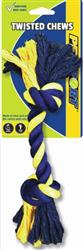 Twisted Chews-Medium Two Knot Cotton Rope 12""
