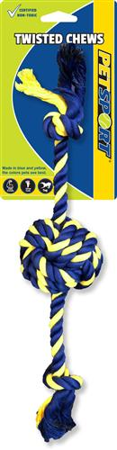 """Twisted Chews-Small Braided Cotton Rope Knot Ball 12"""""""