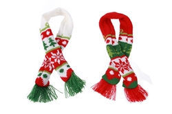 6 Assorted Christmas Nordic Dog Scarfs
