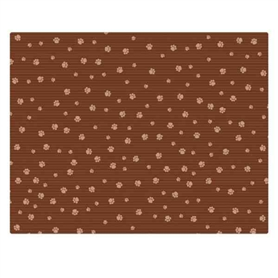 18x24 Crate Mat - Brown Stripe Tan Paw - Case of 6