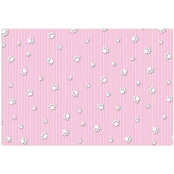 15x22 Crate Mat - Pink Paw Stripe - Case of 6