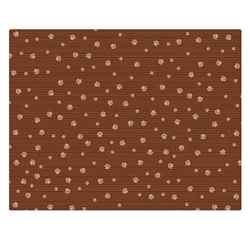 23x36 Crate Mat - Brown Stripe Tan Paw - Case of 6
