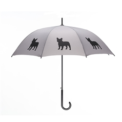 French Bulldog Umbrella Black on Silver