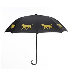 Yellow Labrador Retriever Umbrella Yellow on Black w/ sleeve and shoulder strap