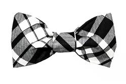 Bow Tie - Black/Creme Plaid