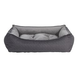 Scoop Bed Pewter Bones Microvelvet (Dusk)