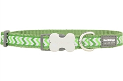 Green Reflective Ziggy - Dog Collars, Leads, and Harnesses
