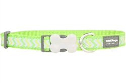 Lime Green Reflective Ziggy - Dog Collars, Leads, and Harnesses