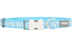 Turquoise Reflective Ziggy - Dog Collars, Leads, and Harnesses