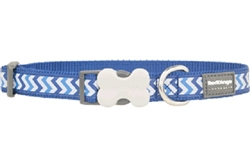 Dark Blue Reflective Ziggy - Dog Collars, Leads, and Harnesses