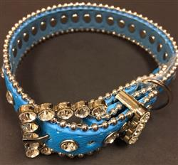 Bling Dog Collar - BLUE
