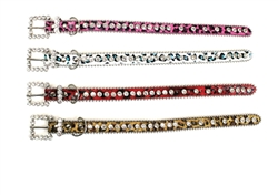 Bling Dog Collar - PINK LEOPARD