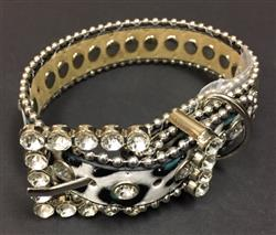 Bling Dog Collar - TURQ LEOPARD