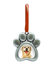 Paw Print Holiday Picture Ornament