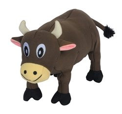 Tender-Tuffs Big Shots - Plump Brown Cow - Large Breed Toy