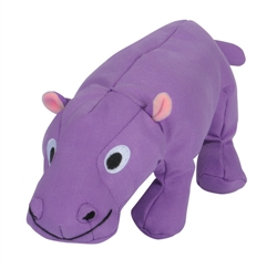 Tender-Tuffs Big Shots - Plump Purple Hippo - Large Breed Toy