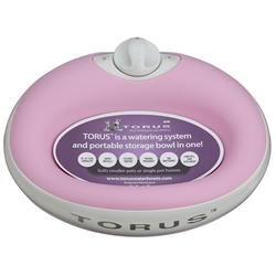 Pink Torus 1L Water Bowl for Pets