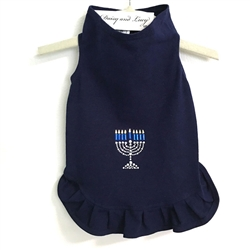 Menorah Dress in Navy by Daisy and Lucy