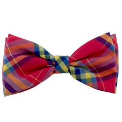 Pink Madras Bow Tie by Huxley & Kent
