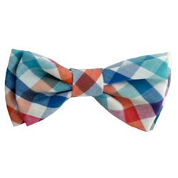 Blue/Green Check Bow Tie by Huxley & Kent