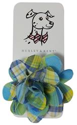 Huxley & Kent Turquoise Madras Flower
