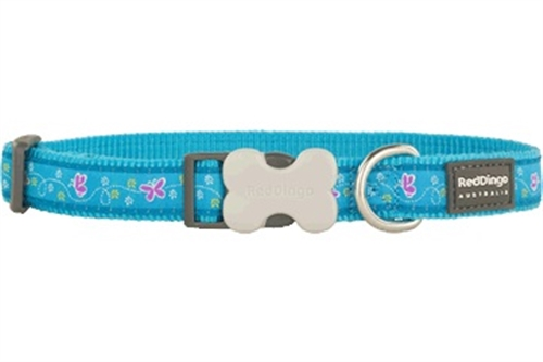 Butterfly Turquoise - Dog Collars, Leads, and Harnesses