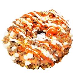 Spiced Pumpkin Latte - Gourmet Donut