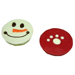 Red Paw & Snowman Cakes