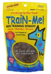 Crazy Dog Train-Me! Mini Treats - Chicken 4 oz