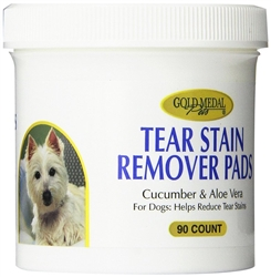 Gold Metal Tear Stain Remover Pads 90 ct