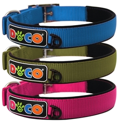 DOCO® Signature Zinc Buckle Neoprene Nylon Collar