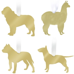 Mirrored Gold Pet Ornaments