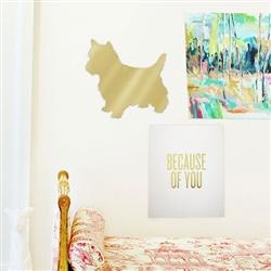 Mirrored Gold Pet Wall Art